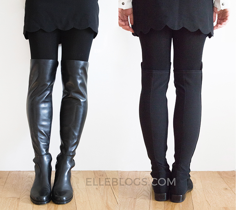e8dade72b56 5050 (Stuart Weitzman 5050 Over-the-Knee Stretch Boot Review) - Elle ...