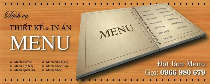 Thiết kế in menu cafe, menu nhà hàng, menu trà sữa, menu khách sạn