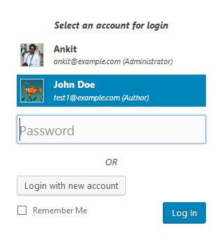 WP Easy Login - Login Form