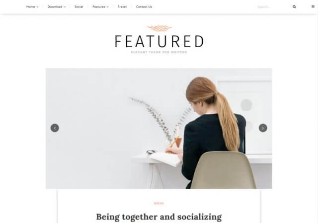 Featured Blogger Template Full Version free Download