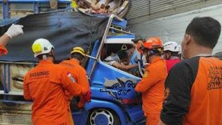 Laka di Ringroad Selatan Yogyakarta, Sopir Truk Terjepit Badan Truk