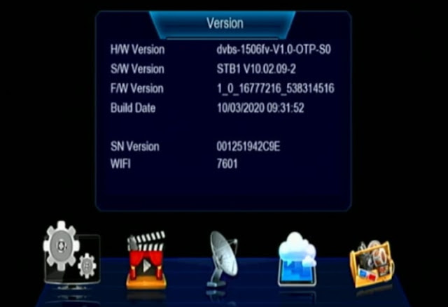 RECEIVER SOFTWARE 1506FV NEW UPDATE SET TOP BOX NEW VERSION SOFTWARE
