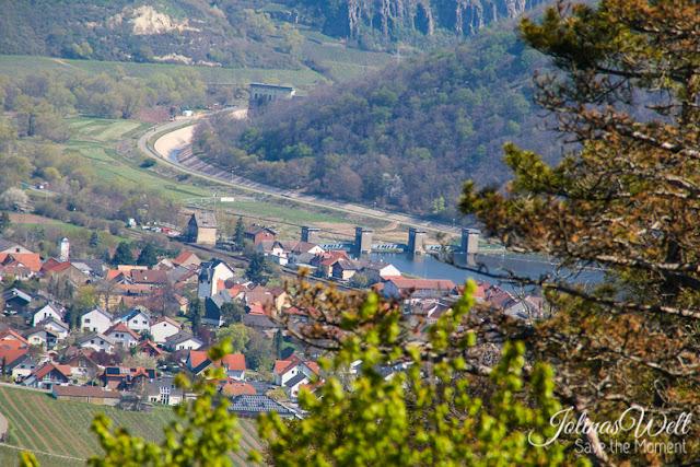 Der Stausee bei Niederhausen und das Kraftwerk von oben