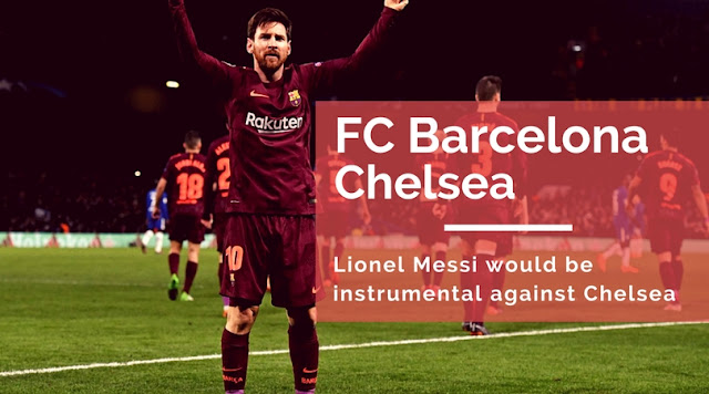 Lionel Messi celebrating Scoring against Chelsea