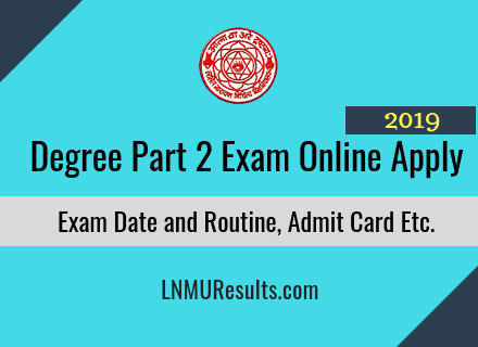 LNMU Part 2 Examination Online Apply 2019