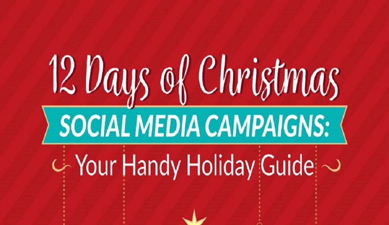 A Handy Holiday Content Guide to 12+ Days of Festivities for Christmas Social Media Campaigns #infographic