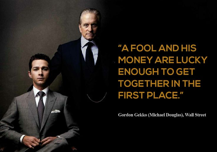 Bootstrap Business 60 Great Gordon Gekko Wall Street Quotes Unique Wall Street Quotes
