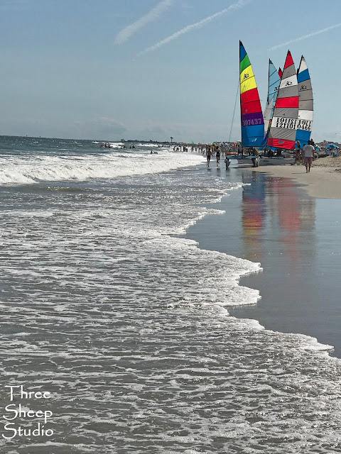 Sail Boats at Ocean City, New Jersey