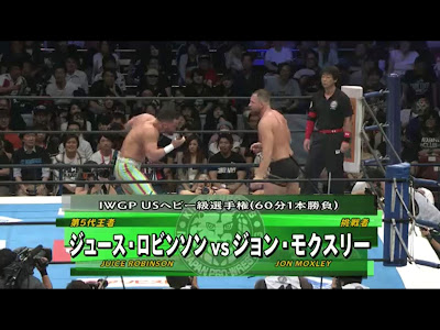Juice Robinson .vs. Jon Moxley - NJPW BOSJ Finals 2019