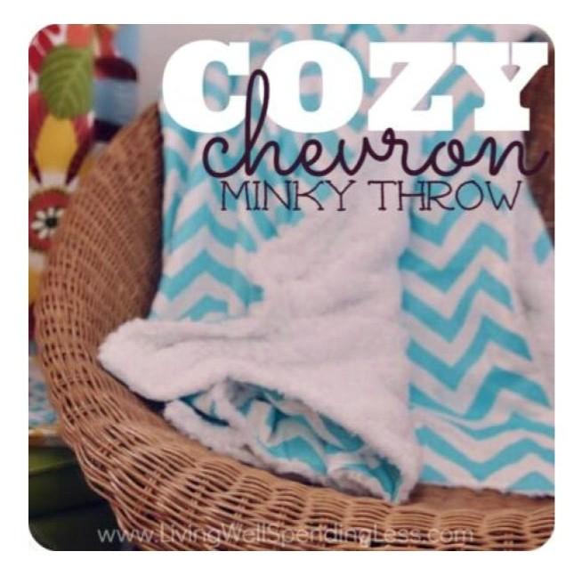 tutorial for a fun cozy chevron print throw