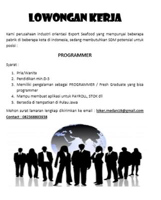 Lowongan Kerja Medan D3 November 2019