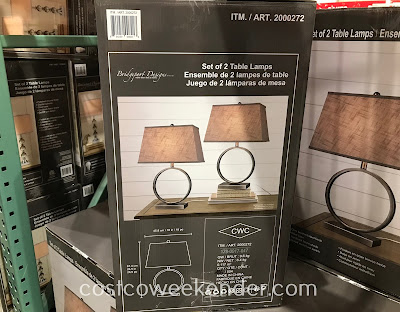 Costco 2000272 - Bridgeport Design Metal Table Lamps: great for any living room or family room