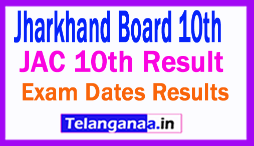 JAC Matric Result 2019, Jharkhand Board 10th Class Result 2019