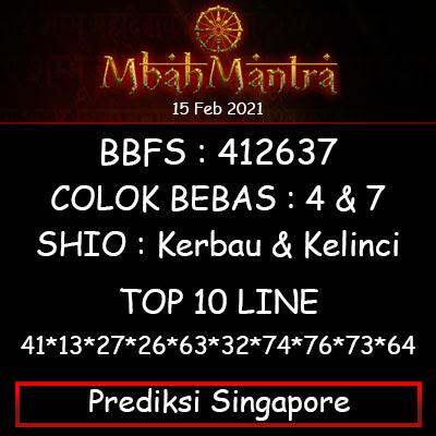 Prediksi Angka Singapore 15 Februari 2021