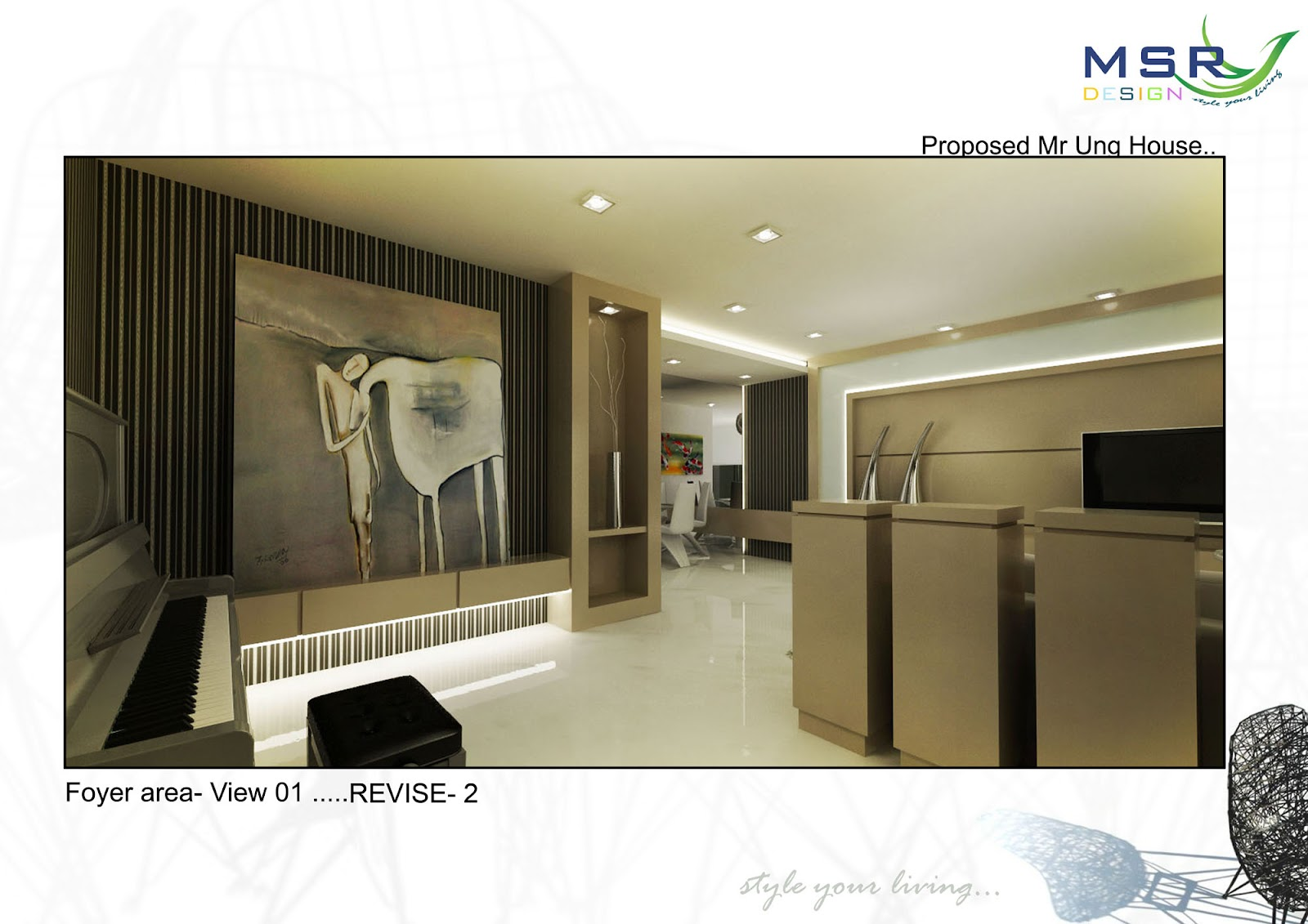 Mica Interior Design And Construction Foyer 3d