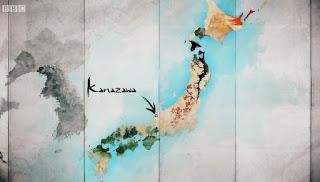 Kanazawa in western Japan Map