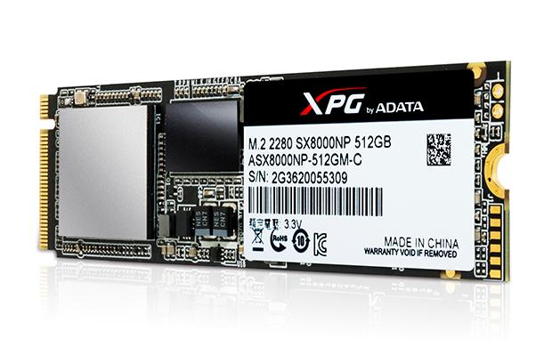 ADATA XPG SX8000 PCI Express 3.0 x4 M.2 2280 Gaming SSD