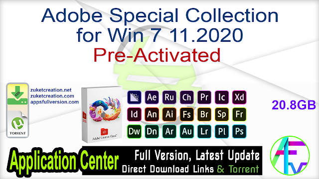 Adobe Special Collection for Win 7 11.2020 Pre-Activated