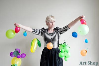 Tự tay làm set bóng bay trang trí sinh nhật hình hoa quả cho bé 8