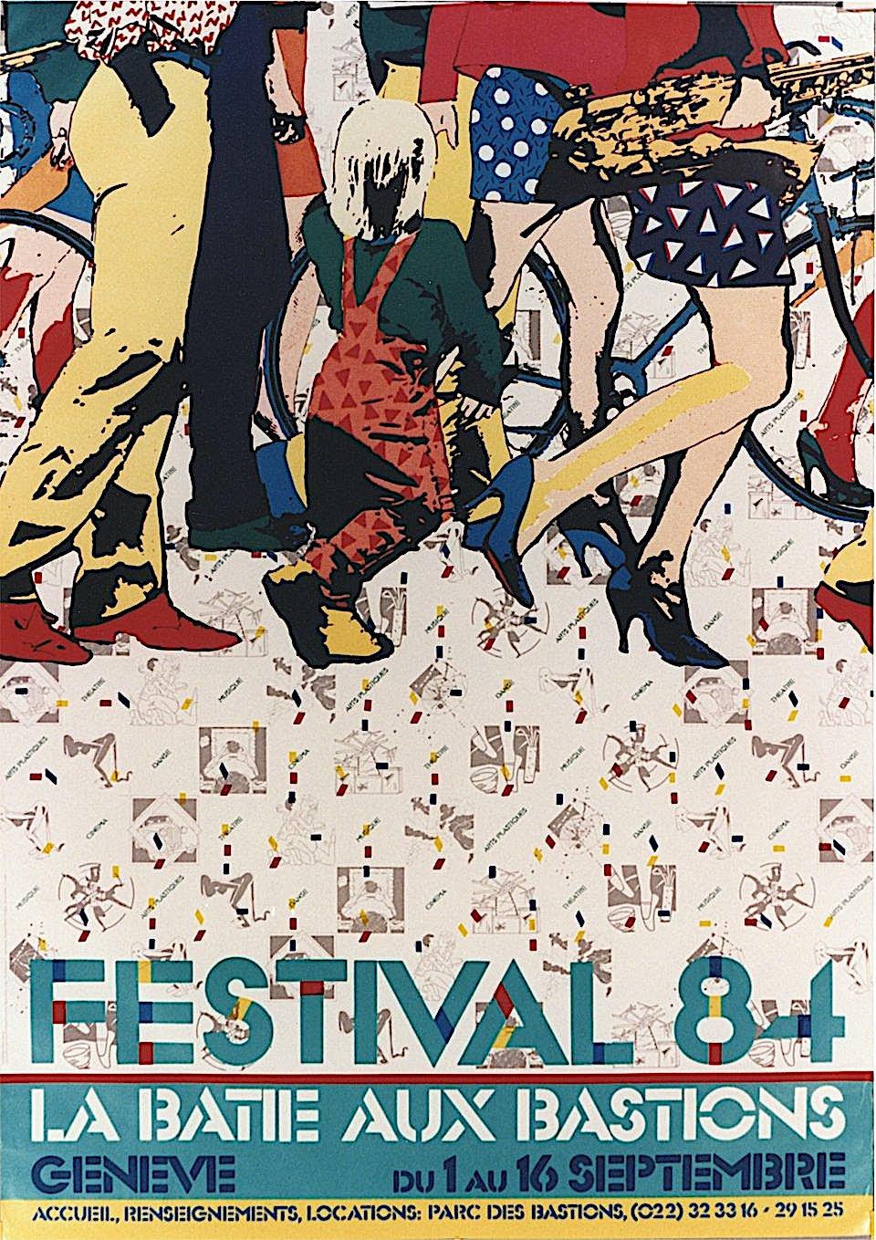 1984 Festival 84 La Batie Aux Bastions, a poster
