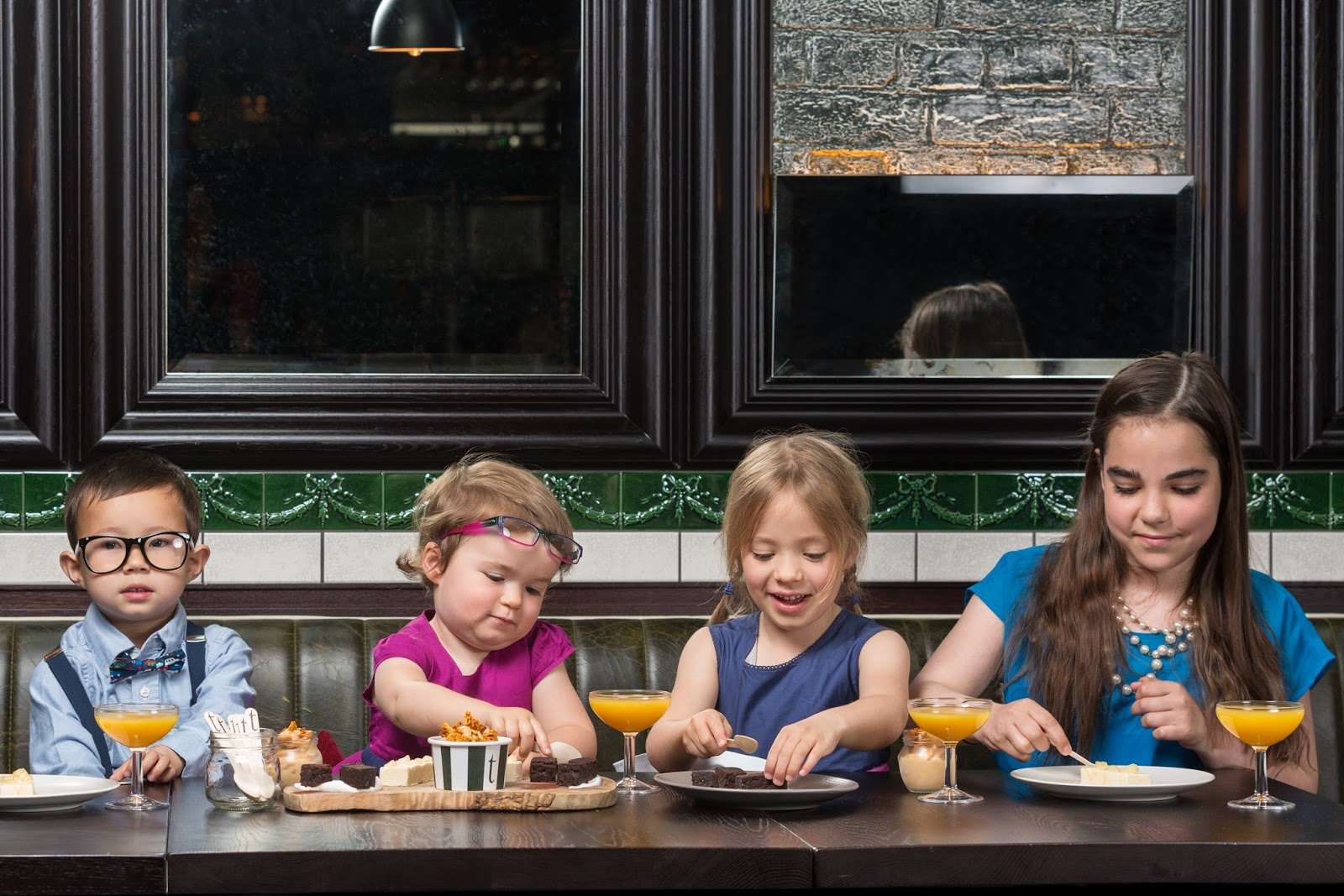 Fine dining with kids