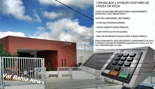 TODOS OS ELEITORES PRECISAM FAZER O CADASTRAMENTO BIOMÉTRICO. ELE É OBRIGATÓRIO!!