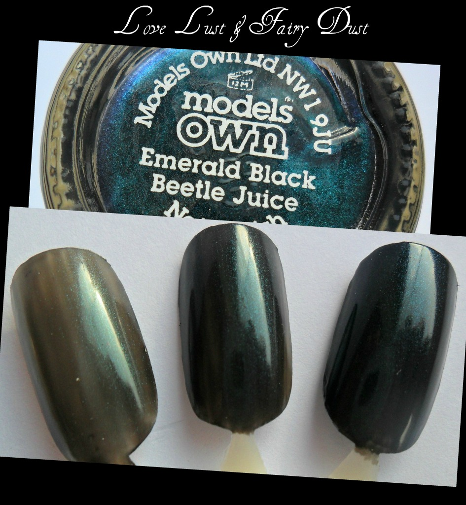 models own beetle juice emerald black swatch