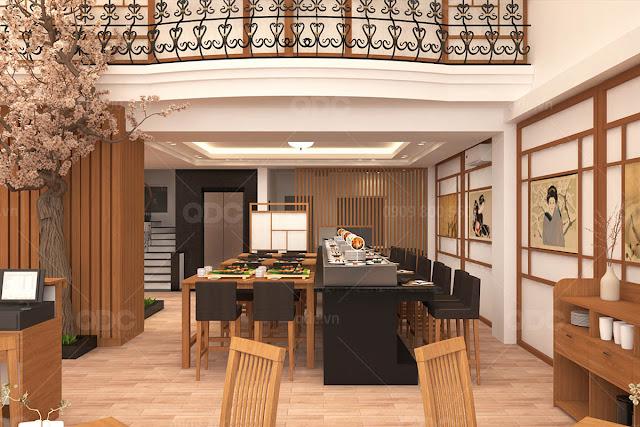 thiet ke nha hang nhat sushi oh 19 Kinh nghiệm lựa chọn vị trí mở nhà hàng thuận lợi