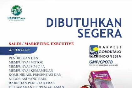 Lowongan Kerja Sales PT HGI Penempatan Tasik, Garut, Ciamis, Banjar.