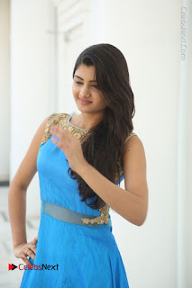 Telugu Actress Akshita (Pallavi Naidu) Latest Stills in Blue Long Dress at Inkenti Nuvve Cheppu Movie Promotions  0003.jpg