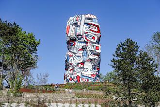 Art : La Tour aux Figures, oeuvre-monument de Jean Dubuffet, totem de l'île Saint-Germain à Issy-les-Moulineaux