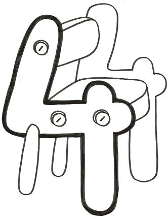 número cuatro silla