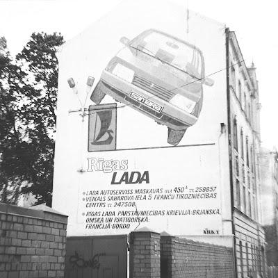 lada, žiguļi, lada siena, krāsotāju iela, mural, soviet, ad, advertisement, 2018