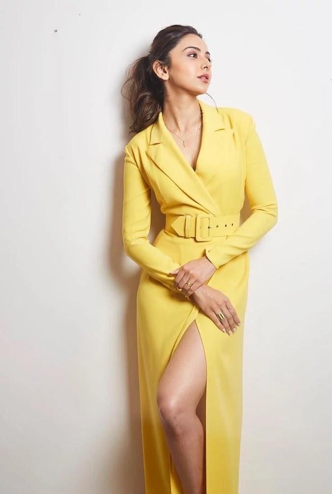 rakul-preet-singh-in-yellow-outfit
