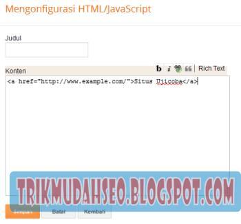 tampilan widget HTML Javascript