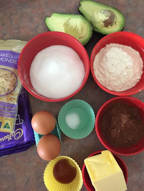 Gambar Bahan bahan Brownies Alpukat
