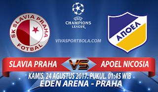 Prediksi Slavia Praha vs APOEL Nicosia 24 Agustus 2017