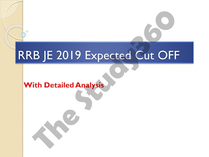 RRB JE CBT- 1 Expected Cut OFF 2019 | RRB JE 2015 Cut OFF