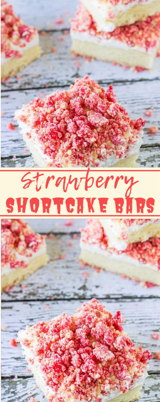 Strawberry Shortcake Bars #desserts #cakes #strawberry #bars #pumpkin
