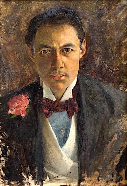 Carlos Federico Sáez (1878-1901), peintres sudaméricains, Autoretrato ,1893 Huile sur toile, 62 x 42cm Museo Nacional de Artes Visuales, Montevideo, Uruguay, Amerique du Sud