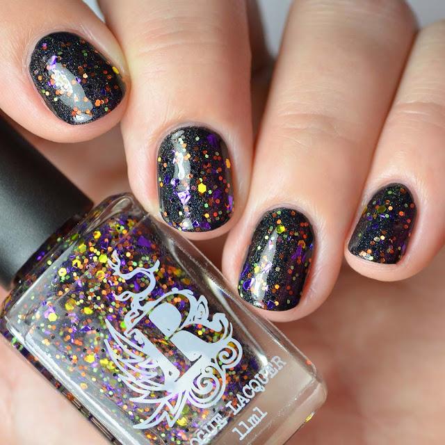 halloween glitter nail polish