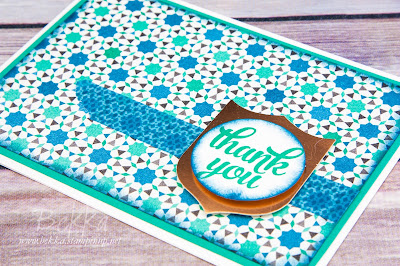 Make In A Moment Moroccan Thank You Card featuring supplies from Stampin' Up! UK which you can purchase here