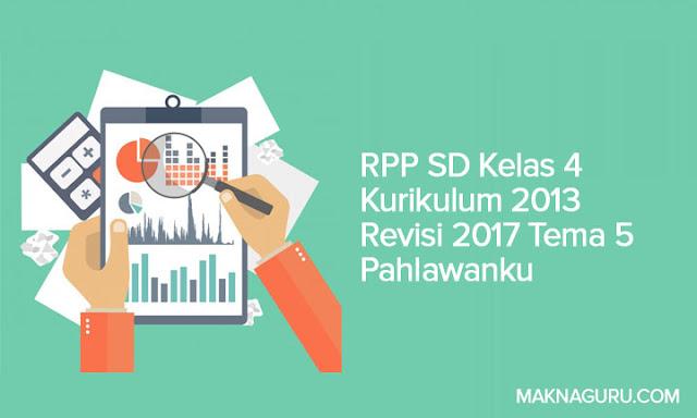 RPP SD Kelas 4 Kurikulum 2013 Revisi 2017 Tema 5 Pahlawanku