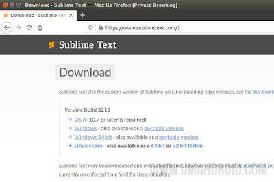 Download Sublime Text Linux Gratis