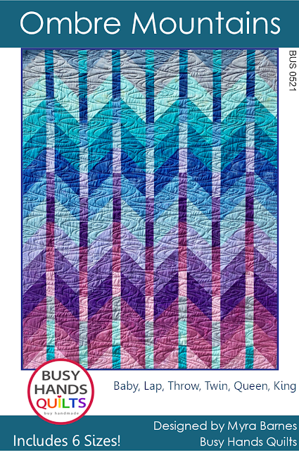 Ombre Mountains quilt pattern by Myra Barnes of Busy Hands Quilts