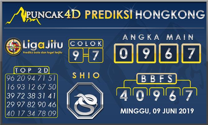 PREDIKSI TOGEL HONGKONG PUNCAK4D 09 JUNI 2019