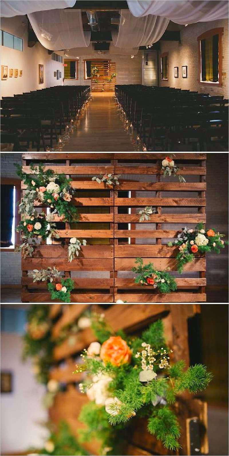 13 ideas de decoraci n para una boda - Decoracion palets jardin ...