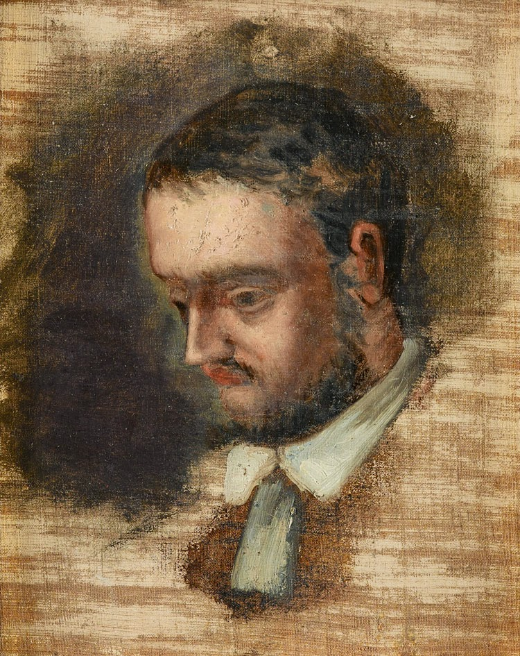 Paul cézanne 1864 portrait of émile zola oil on canvas 26 x 21 cm