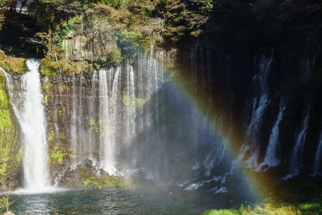 滝壺の虹~白糸の滝(静岡)