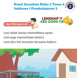 Kunci Jawaban Tematik Kelas 2 Tema 6 Subtema 1 Pembelajaran 2 www.simplenews.me
